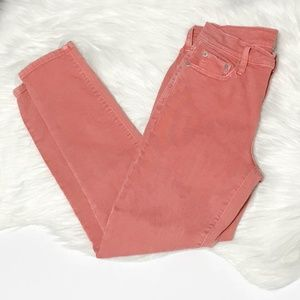GAP True Skinny Coral Ankle Jeans Size 27R